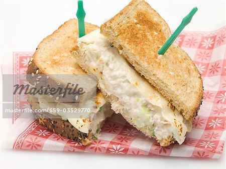 Tuna and cheese toast sandwich
