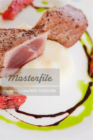 Seared Tuna with a Cilantro Balsamic Drizzle