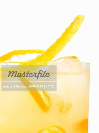 Cocktail Garnish in Glass