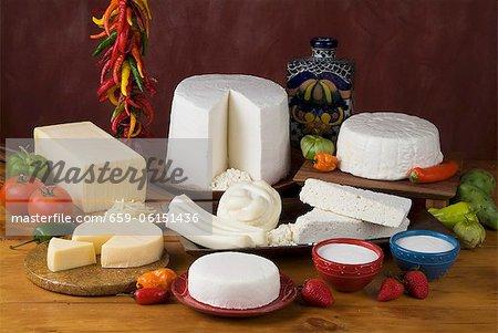 Various Hispanic Cheeses