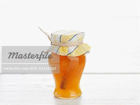 A glass of cinnamon jam