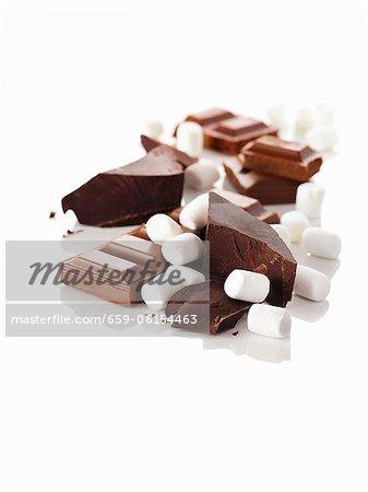 Chocolate chunks and marshmallows