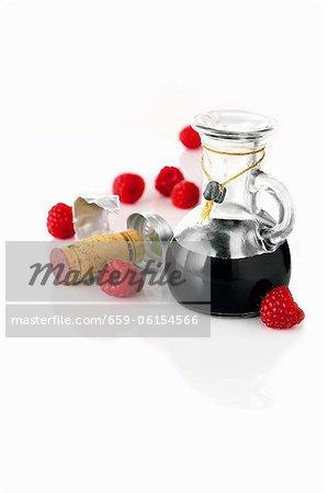 Balsamic vinegar and raspberries