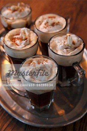 Mini Irish coffees