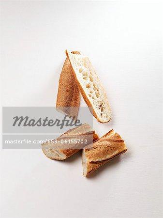 A sliced baguette