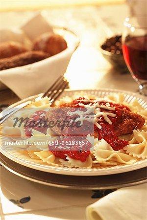 Chicken Margherita with Bowtie Pasta