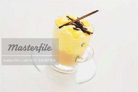 Iced coffee with vanilla cream