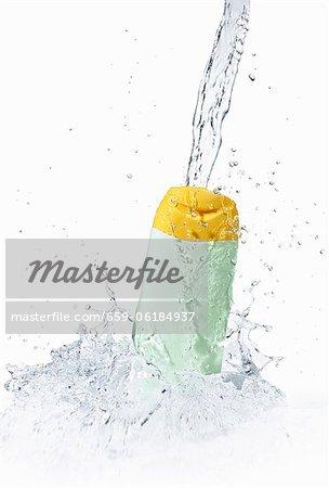 Shower gel in water