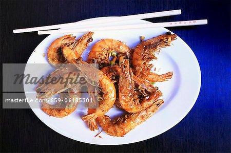 Garlic prawns (China)