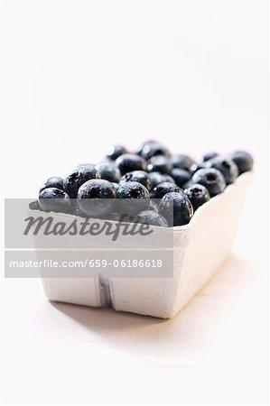 Blueberries in cardboard punnet