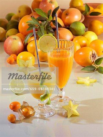 Freshly pressed fruit juice