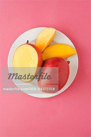 Mango; Whole, Half, Wedges
