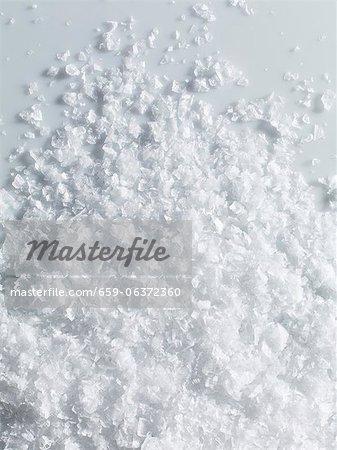 Flakes of sea salt