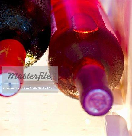 Chilled wine bottles
