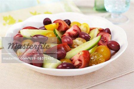 Heirloom Tomato and Olive Salad