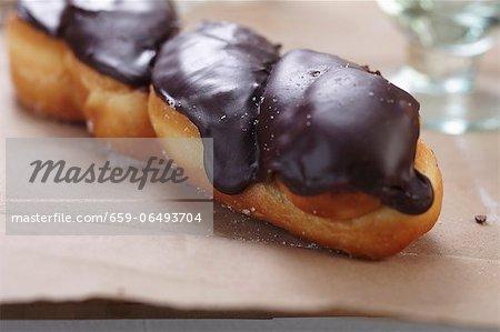 Dark Chocolate Frosted Doughnut