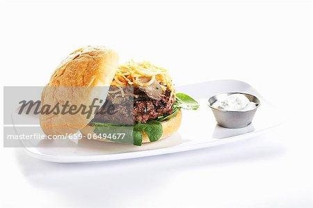 Lamb Burger on a Bun