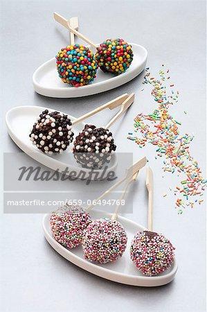 Various cake pops