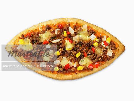 A Turkish pizza (lahmachun)