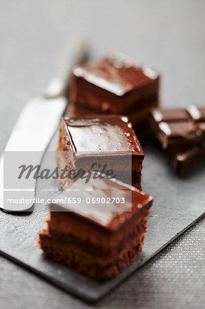 Chocolate cake squares
