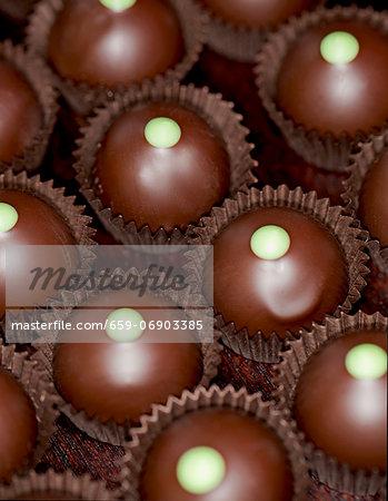 Chocolates with cedar filling