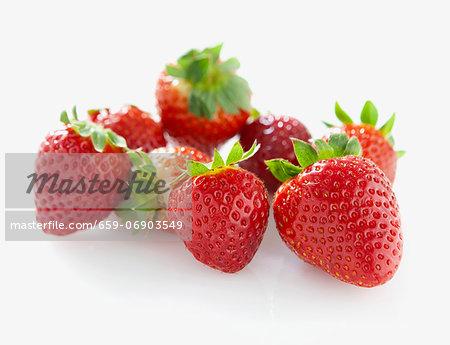 Several strawberries