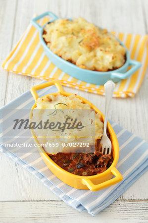 Moussaka with mashed potato