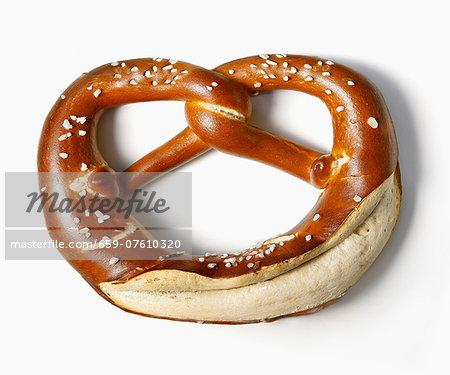 A salted lye pretzel