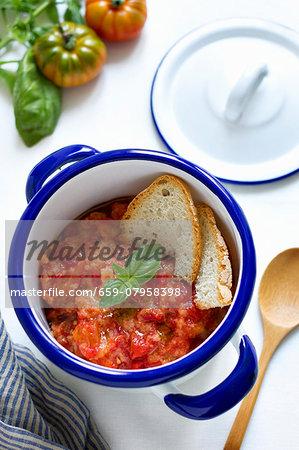 Pappa al pomodoro (tomato-bread soup, Italy)