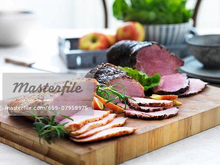 Pork and beef ham