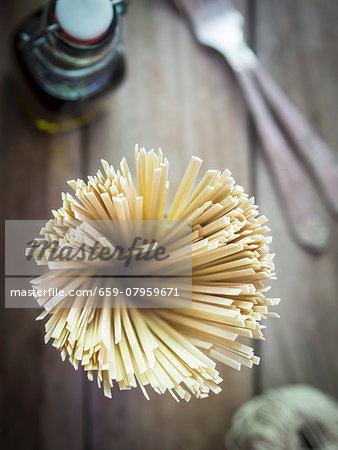 A glass of soya noodles