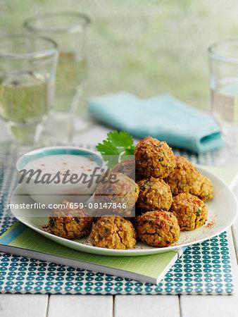 Falafel with a dip