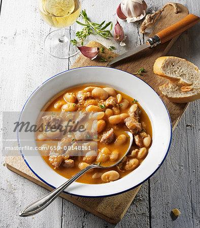 White bean soup with Italian salsiccia