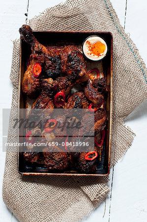 Oven-roasted spicy chicken drumsticks