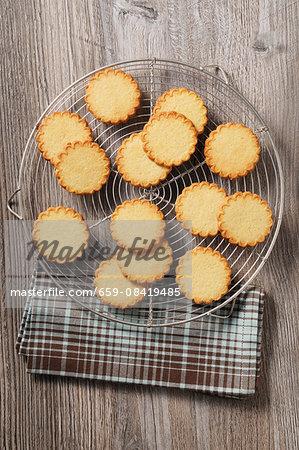 Round butter biscuits