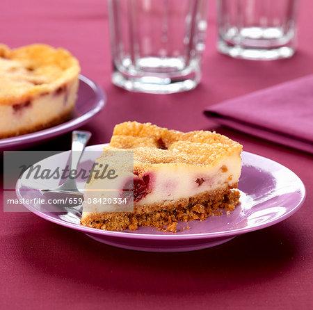 raspberry brulee cheese cake
