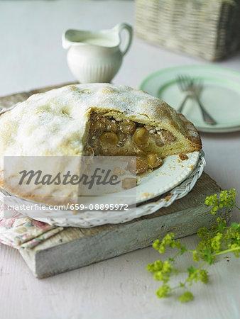 Gooseberry Almond Pie