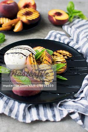 Grilled Peach Mozzarella Salad