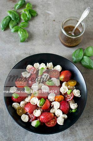 Strawberries Caprese Salad