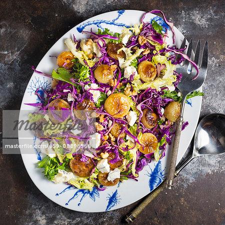 Cipollini Onion and Cabbage Salad