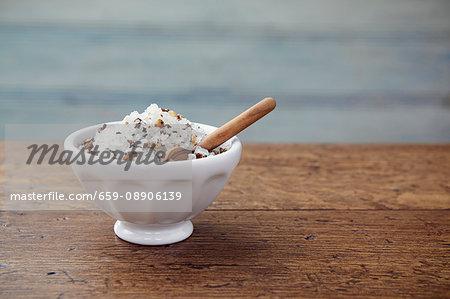 Pepper & apricot salt in a bowl