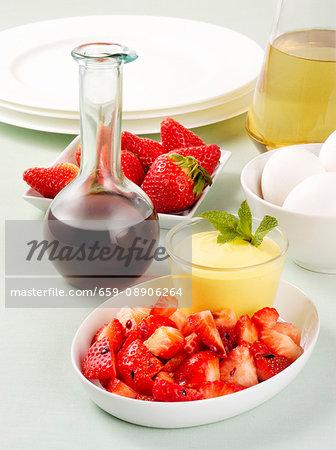 Strawberries with zabaglione