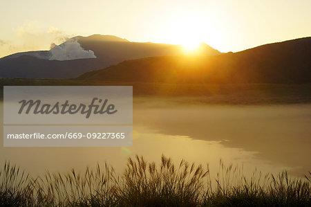 Sunrise in Kusasenri, Kumamoto Prefecture, Japan