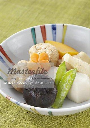 Simmered vegetables