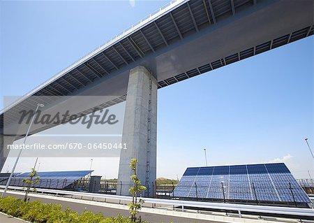Solar panels at Tokyo Gate Bridge