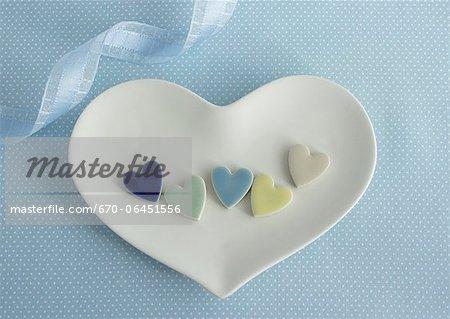 Heart-shaped tiles