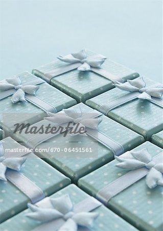 Light blue gift boxes