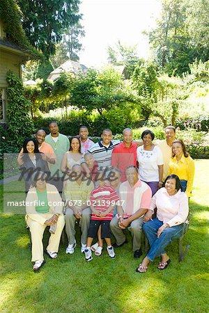 Big group family portrait