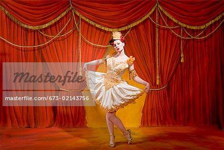 Woman wearing ornate costume