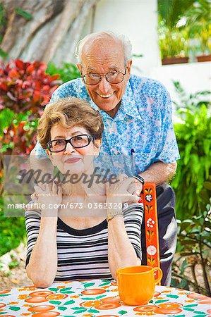 portrait of senior couple outdoors
